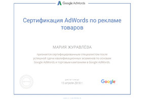 AdWords Мария Журавлева